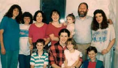 The entire family (with their 3 foster daughters) shortly before the  Morrisons made aliyah in 1992