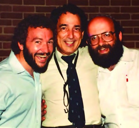 Vintage shot with music partners Paul Wilbur and Rene Bloch