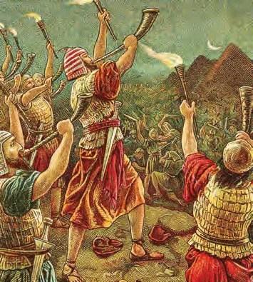 Shofars in unison (Wikiphoto, Bible_Card)