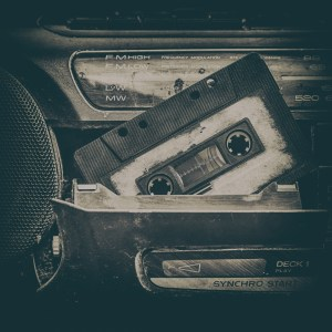 old cassette tape and player