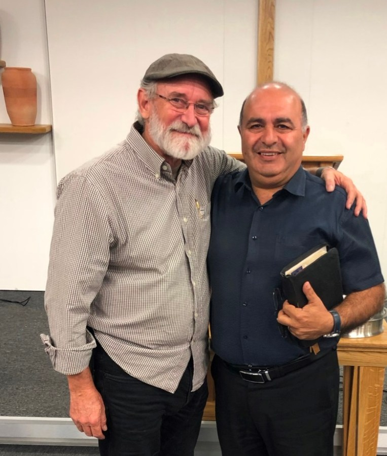 Author with Arab Pastor Hani in Cana Village