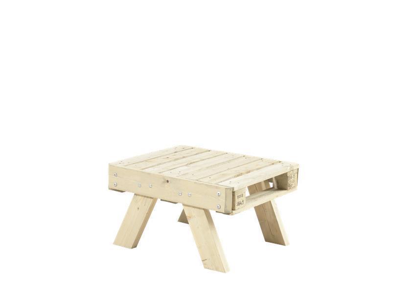 petite table basse de jardin en palette en bois 80x65 5x45cm