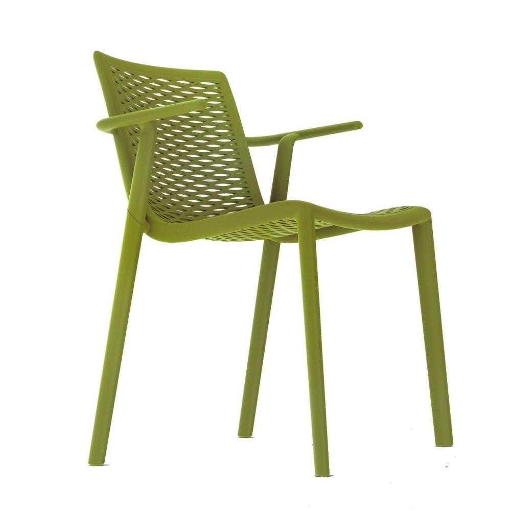 netkat chaise de jardin empilable avec accoudoir