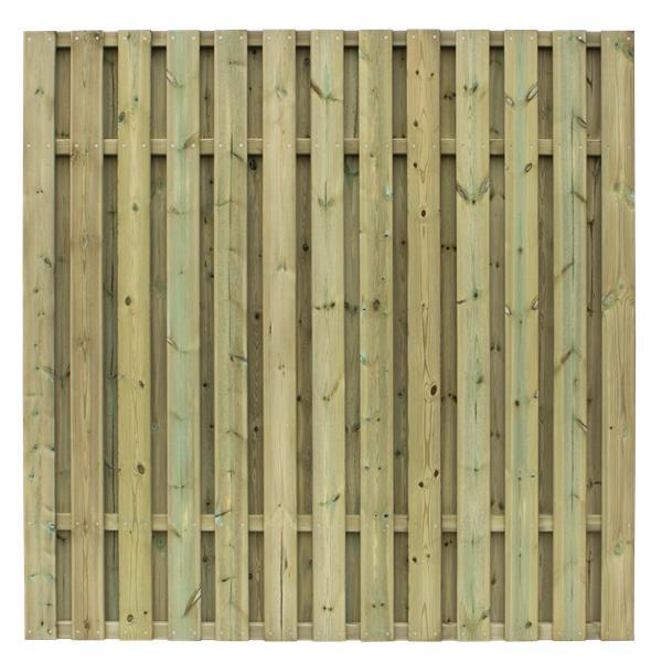 classic a vertical brise vue 177x177cm avec lames bois autoclave