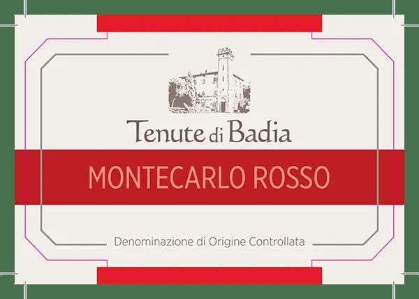 Etichetta Tenute di Badia Montecarlo Rosso DOC