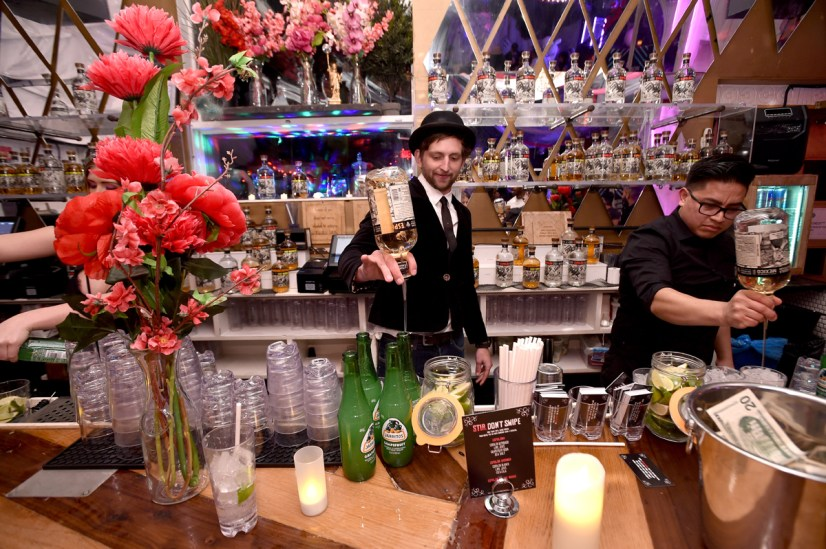 BROOKLYN, NY - MARCH 27: Cocktails are made with Espolon during I.R.Love presented by Espolon at House Of Yes on March 27, 2018 in Brooklyn, New York. (Photo by Bryan Bedder/Getty Images for Espolon)
