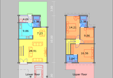 Single Floor House Plan And Elevation Sq Ft