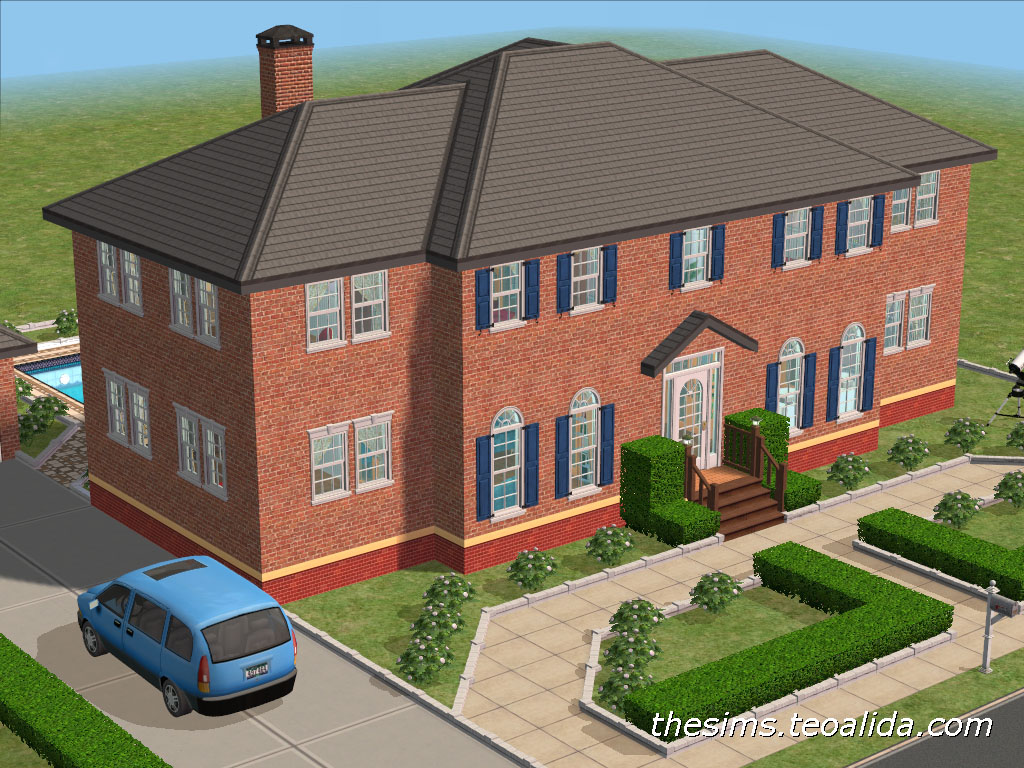 Sims 2 house ideas designs layouts plans for Sims 2 house designs floor plans
