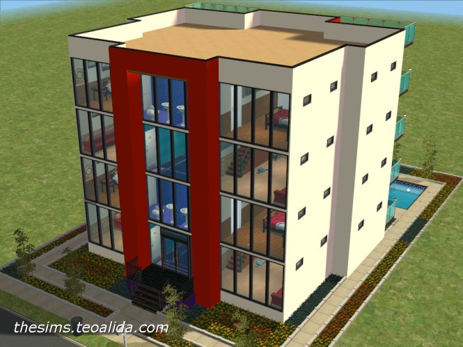 Modern Apartment Block The Sims Fan Page