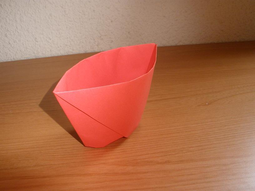Vaso de papel  Papiroflexia  teOcio  teOcio  El portal