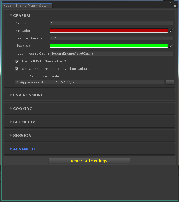 unity houe plugin settings