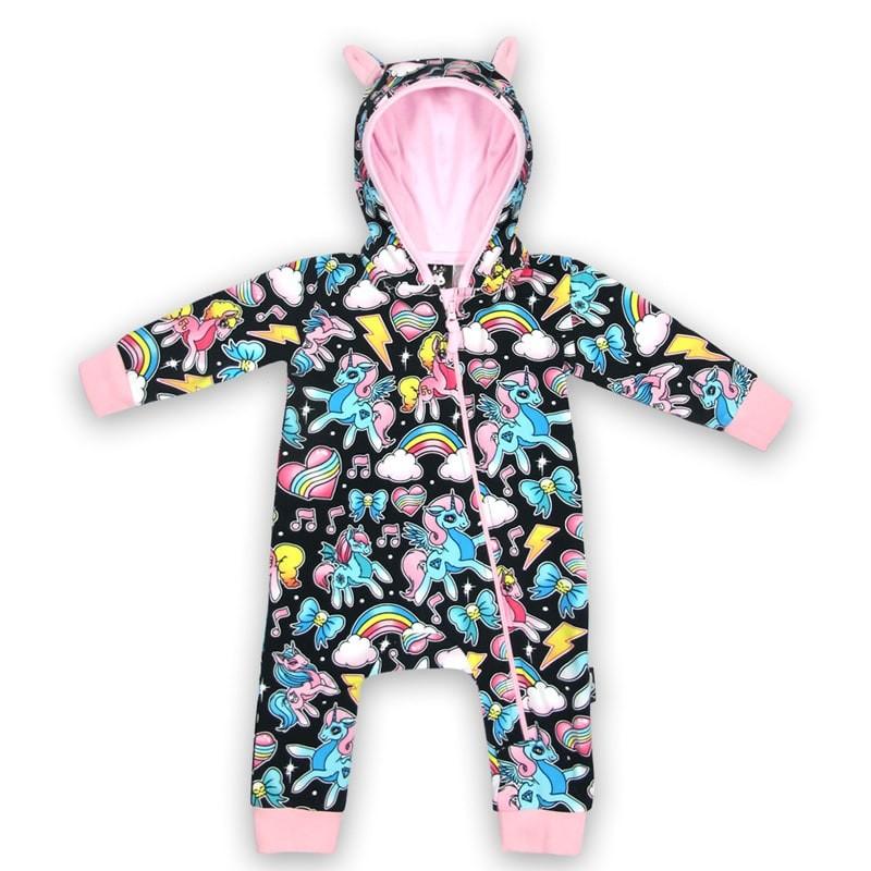 Pijama enterizo en algodon organico con capucha y orejitas