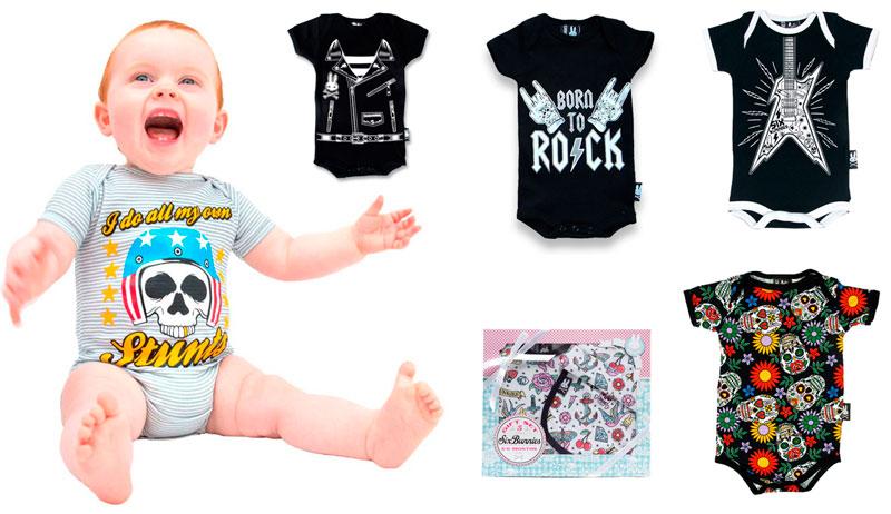 Bebes recien nacidos regalos rockeros para padres amantes