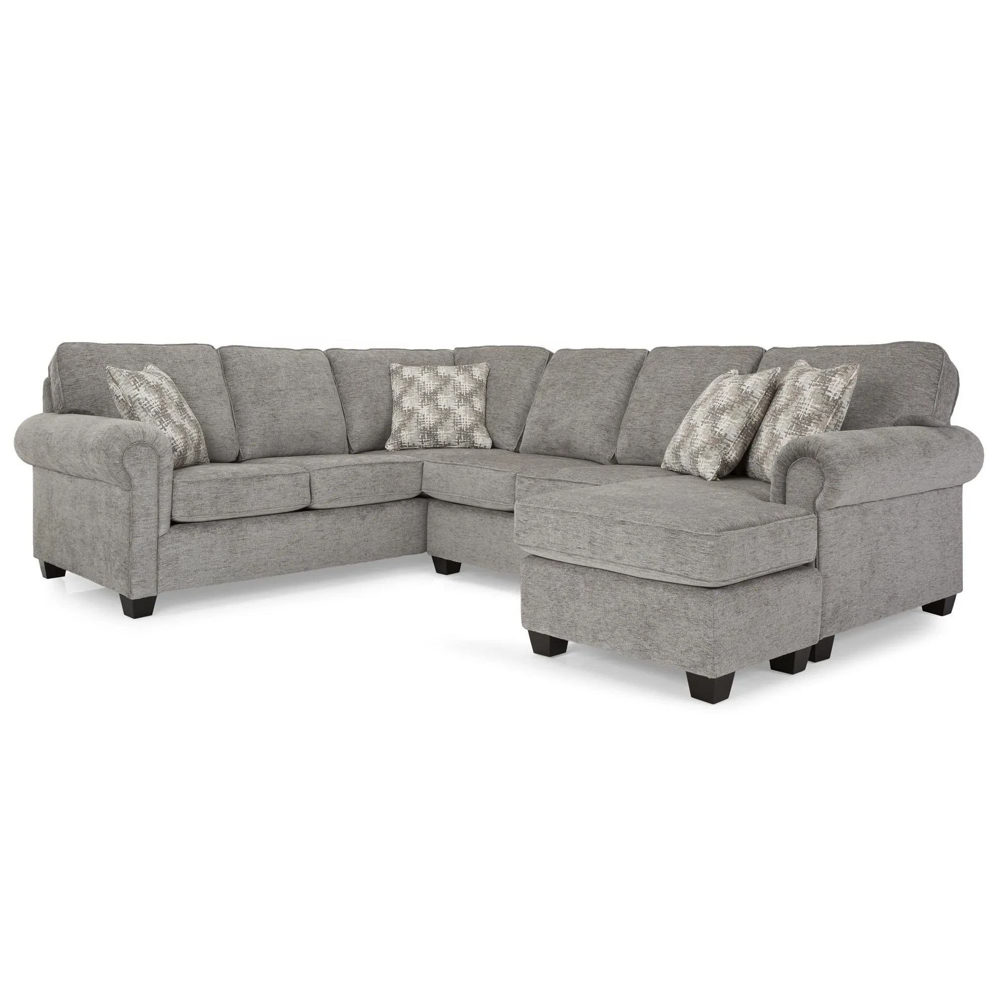 andrews rico grey 3 piece sectional