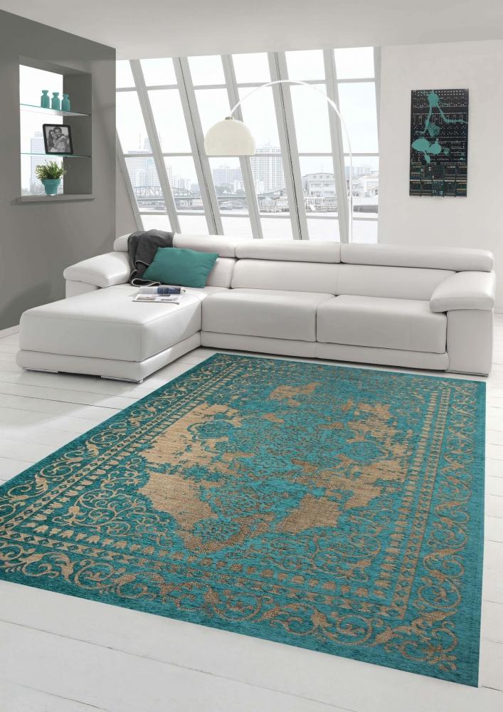 Moderner Teppich Designer Teppich Orientteppich Wohnzimmer Teppich mit Bordre i  eBay