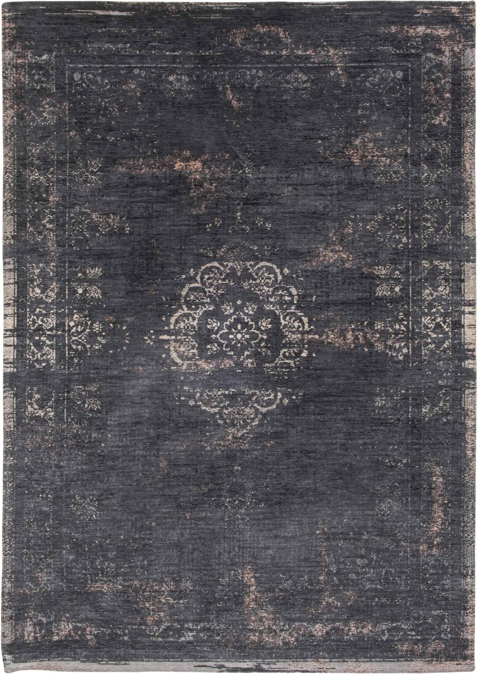 louis de poortere teppich fading world mineral black 8263 medallion design