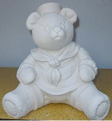 "gare 2718 sailor bear lge(BEA 38)  9""H  bisqueware"