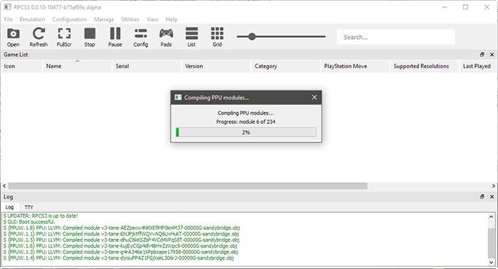 قم باختيار ملف PKG أو iso من داخل ملفات اللعبة لتبدأ تشغيلها داخل البرنامج