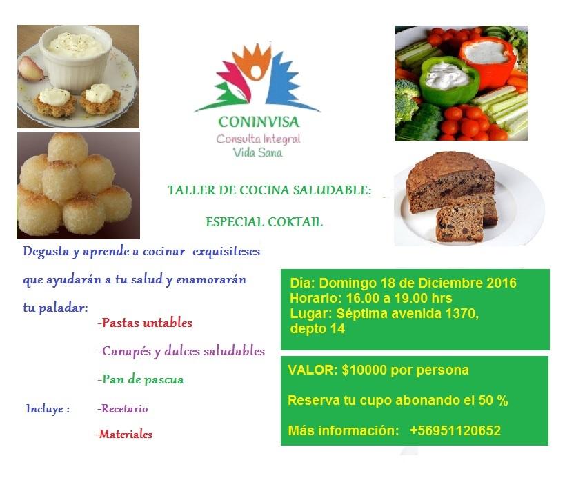 TALLER DE COCINA SALUDABLE CCTEL SALUDABLE  Terapeutas