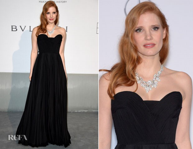 Jessica-Chastain-In-Givenchy-Couture-amfAR-Cinema-Against-Aids-Gala