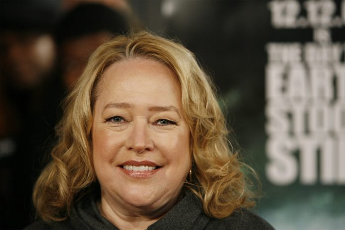 "Actress Kathy Bates arrives for the premiere of the film ""The Day The Earth Stood Still"" in New York"
