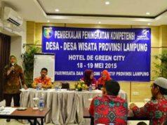 Pmbekalan peningkatakn kompetensi desa-desa wisata di Lampung, Senin (18/5) di Hotel Green City , Bandarlampung