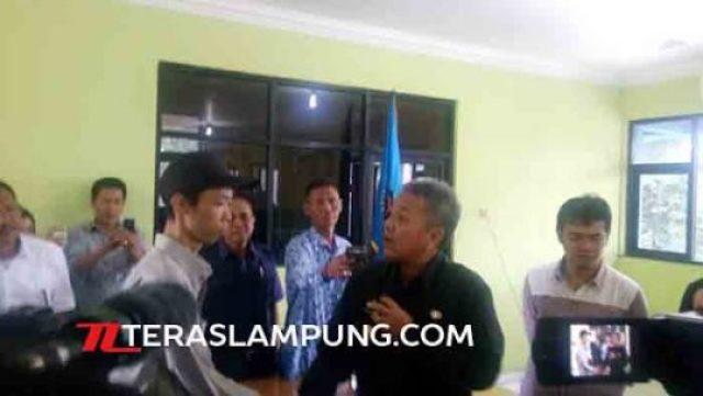 Sekdaprov Lmpung Arinal Djunaidi meminta maaf kepada wartawan Tribunlampung, Noval Andriyansah