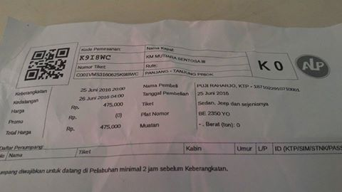 Tiket KM Mutiara Sentosa III