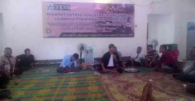 Para pengurus Gapesi Lampung berkumpul untuk mencari solusi terbaik terkait anjloknya harga singkong belakangan ini