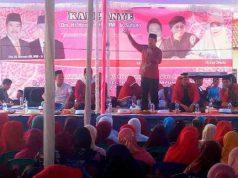 Herman HN kampanye di Lapangam Bumi Daya, Palas, Lampung Selatan, Selasa siang (10/4/2018).