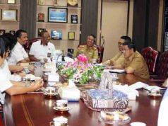 audiensi Badan Pemeriksa Keuangan (BPK) Perwakilan Provinsi Lampung, di Ruang Rapat Kerja Gubernur Lampung, Senin (16/4/2018).