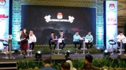 Debat publikPilgub Lampung di Hote Novotel, Jumat malam (11/5/2018).