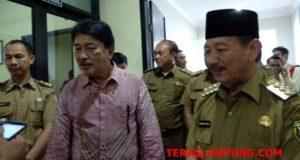 Walikota Herman HN bersama Koordinator Wilayah II Sumatera bidang Pencegahan KPK RI Adliansyah Nasution