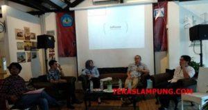 Akademisi Unila Budiono di acara Media briefing tentang perluasan akses terhadap keadilan melalui Perda bantuan hukum