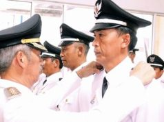 Bupati Sujadi melantik 13 kepala pekon di Kabupaten Pringsewu.