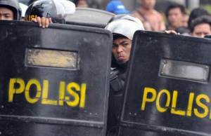 Ilustrasi Polisi Indonesia. Getty Images