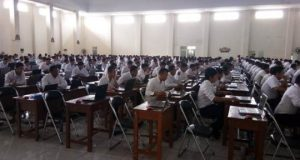 Tes SKD CPNS di Gedung Korpri Lampung Barat, Kamis (8/11/2018).