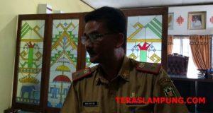 Kepala BKD Kota Bandarlampung Wakhidi ketika menjelaskan penerimaan CPNS.