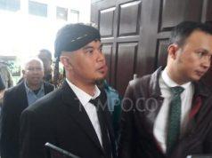 Terdakwa kasus ujaran kebencian Ahmad Dhani di Pengadilan Negeri Jakarta Selatan, Senin 10 Desember 2018. TEMPO/Francisca Christy Rosana