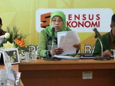 Kepala BPS Provinsi Lampung, Yeane Irmaningrum, menjelaskan tentang inflasi di Kota Bandarlampung, Jumat, 1 Februari 2019.