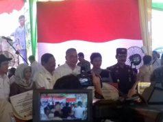 Menteri Desa PDTT Eko Putro Sandjojo di Bengkulu, Kamis, 7 Februari 2019, memberikan keterangan kepada para wartawan tentang dana desa.