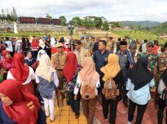 Nyambai Milenial di Kebun Raya Liwa, Lampung Barat, Selasa sore (9/4/2019).