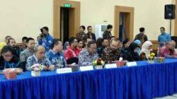 Kepala Perwakilan BPK RI Lampung Sunarko mengungumkan kabupaten/kota yang meraih opini WTP