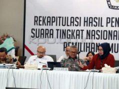 Rapat Pleno KPU RI rekapitulasi hasil Pilpires 2019.