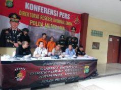 Subdit Resmob Direktorat Reserse Kriminal Umum Polda Metro Jaya saat konfrensi pers terkait penangkapan jaringan pencurian dengan kekerasan di Rumah Sakit Polri Jakarta Timur, Sabtu, 15 Juni 2019. TEMPO /Taufiq Siddiq