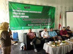 Pertemuhan Daerah Lingkungan Walhi Lampung di Wisma Unila, Bandarlampung, Rabu (3/7/2019).