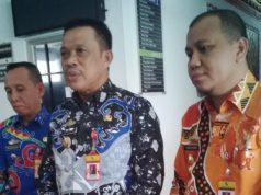 Penjabat Sekkab Lampung Utara, Sofyan usai membina ratusan ASN yang mangkir apel harian