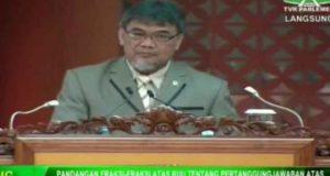 Anggota Komisi XI DPR RI Ahmad Junaidi Auly dalam Sidang Paripurna DPR RI, Selasa (9/7).