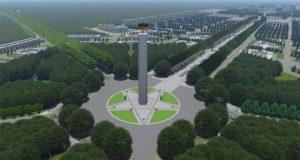 Desain Lapangan dan Monumen Pancasila yang masuk dalam paparan bertajuk Gagasan Rencana dan Kriteria Desain Ibu Kota Negara (sumber: Kementerian PUPR)