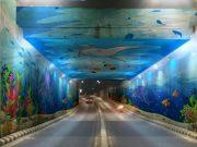 Mural di underpass depan Unila/Foto: Andre Sugiarto Black